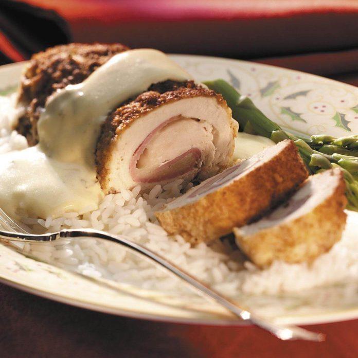 Christmas Chicken Cordon Bleu