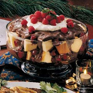 Raspberry Chocolate Trifle