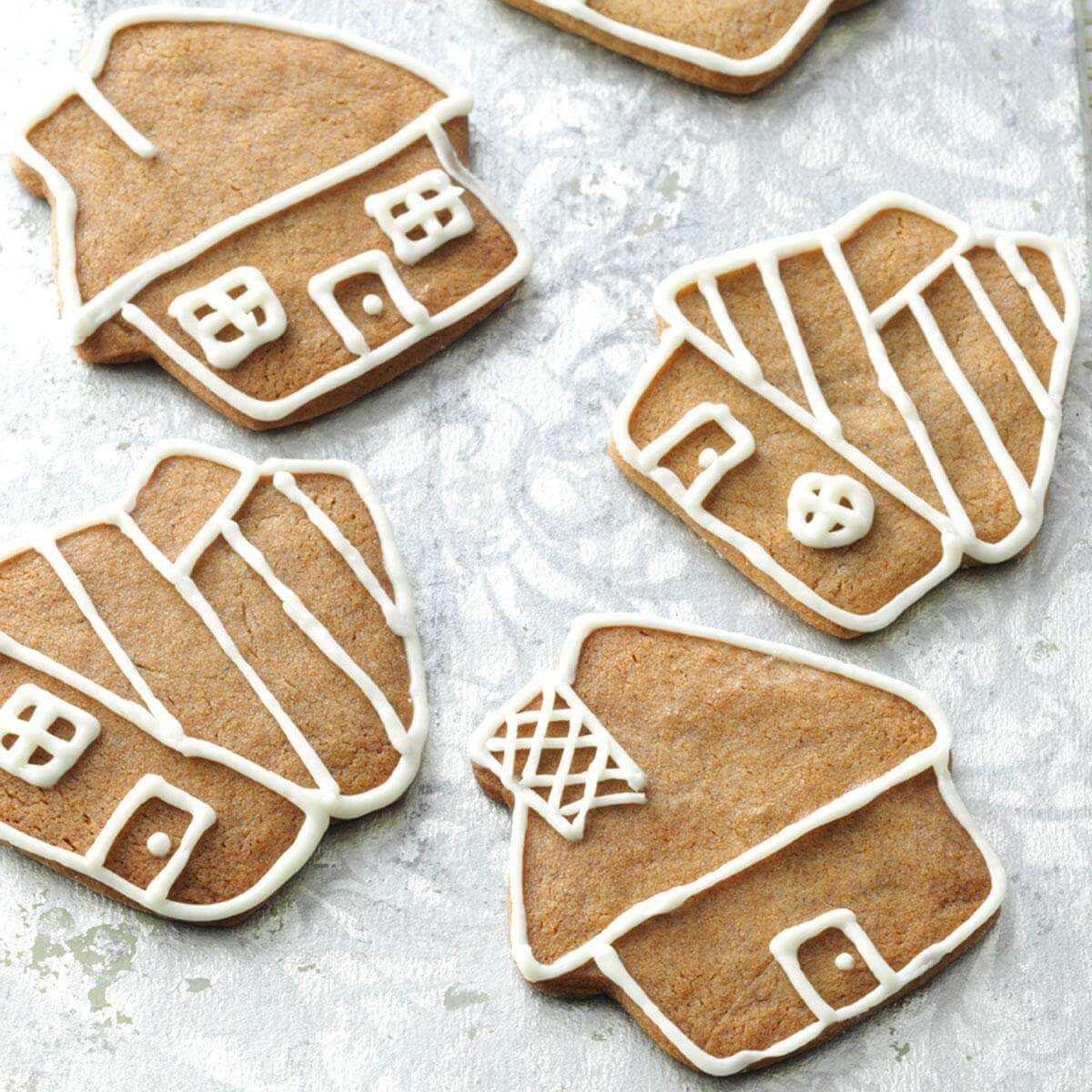 Gingerbread Cookies with Buttercream Icing Recipe | Taste of Home