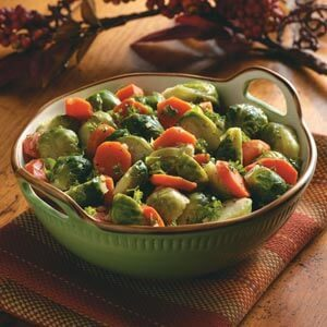 Buttery Carrots and Brussels Sprouts