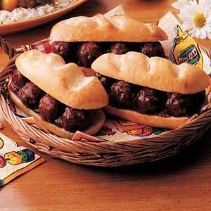 Tasty Meatball Sandwiches