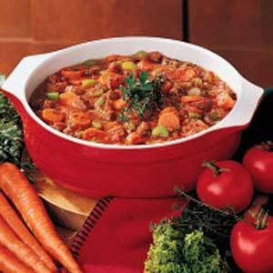Savory Tomato Beef Soup