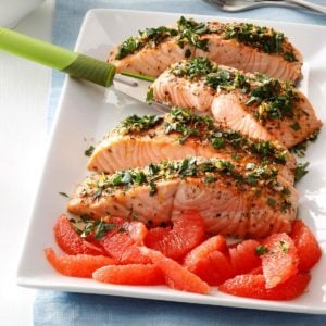 Grapefruit-Gremolata Salmon