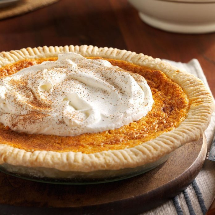 Fluffy Sweet Potato Custard Pie