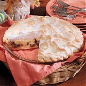 Buttermilk Raisin Pie