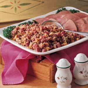 Rhubarb Cornbread Stuffing