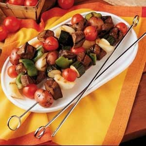 Grilled Venison and Vegetables
