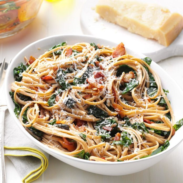 Chard & Bacon Linguine