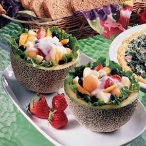 Fruit-Filled Melons