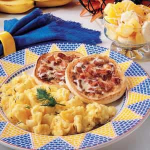 English Muffins with Bacon Butter