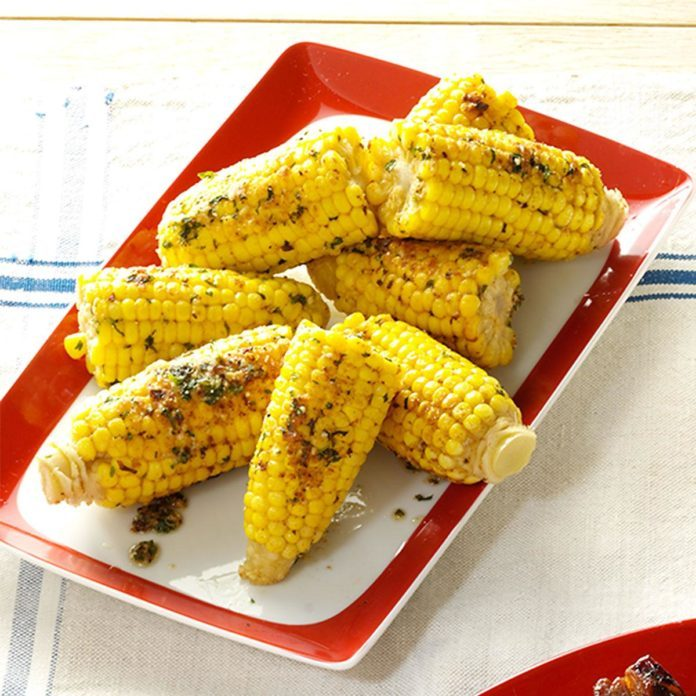 Sweet Corn with Parmesan and Cilantro