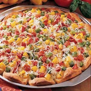 Pepper-Topped Pizza
