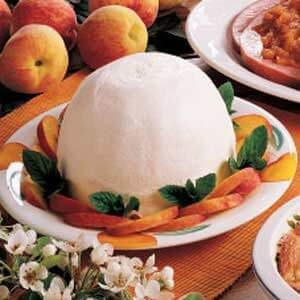 Frozen Peach Dessert