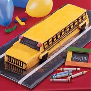 Cool School Bus Cake Recipe Taste Of Home Personalised Birthday Cards Cominlily Jamesorg