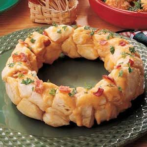 Bacon Biscuit Wreath