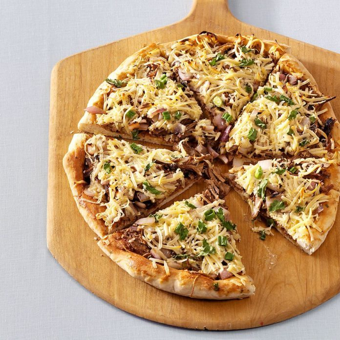 BBQ Brisket Flatbread Pizzas