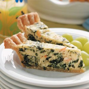Crab and Spinach Quiche