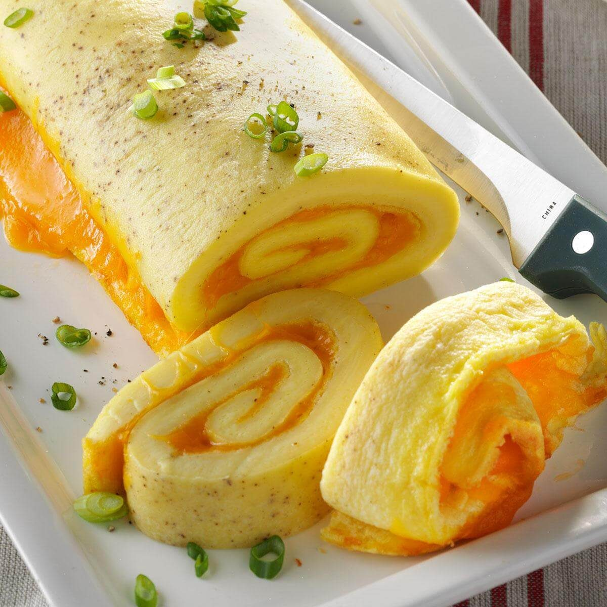 Baked Omelet Roll Recipe Taste Of Home