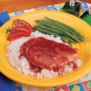 Quicker Barbecued Chicken 'n' Rice