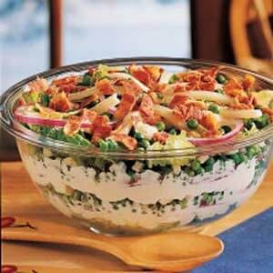 Bacon-Swiss Tossed Salad