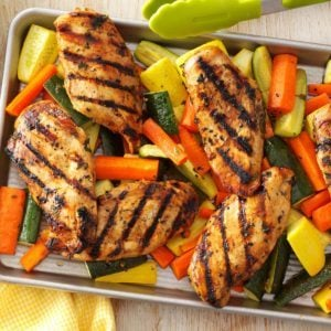 Apple-Marinated Chicken & Vegetables