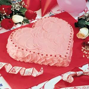 Strawberry Heart Cake
