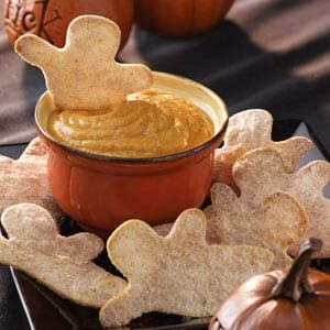 Goblins with Pumpkin Dip