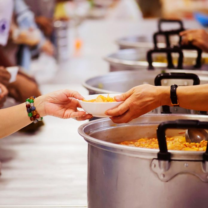 Hands-on food of the hungry is the hope of poverty : concept of homelessness; Shutterstock ID 1218132919; Job (TFH, TOH, RD, BNB, CWM, CM): TOH