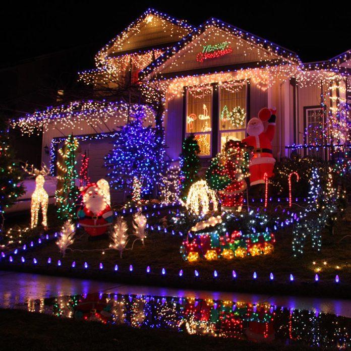 Beautiful Christmas lights display.; Shutterstock ID 42979057