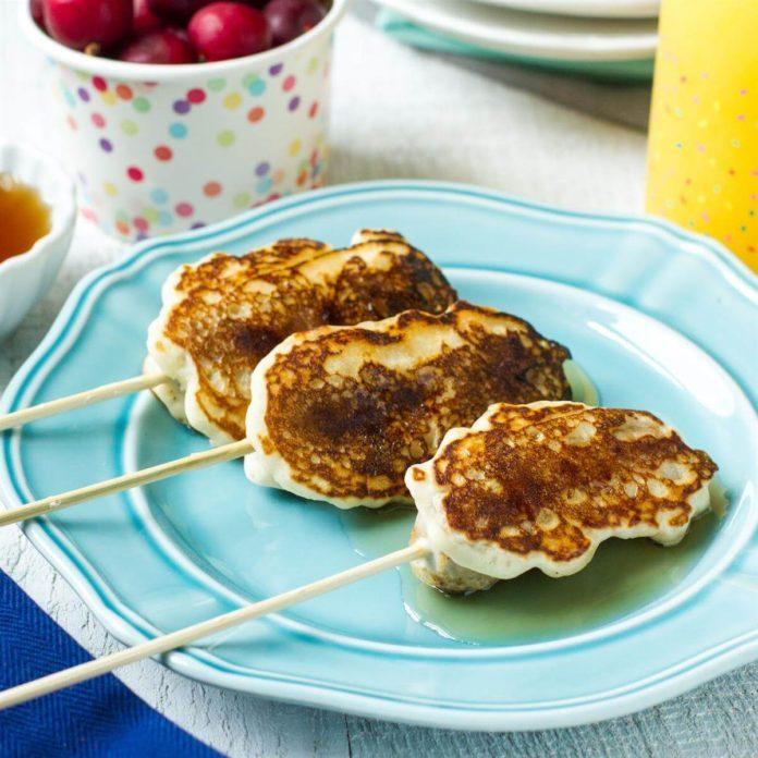 Breakfast Sausage Pancake Pops