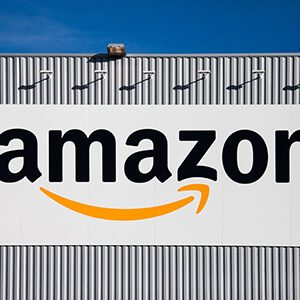 Amazon logo on a billboard