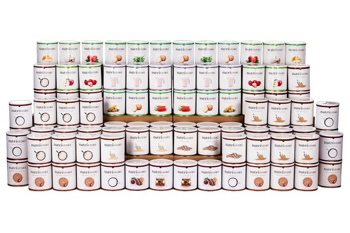 Expansive stacking of canned goods