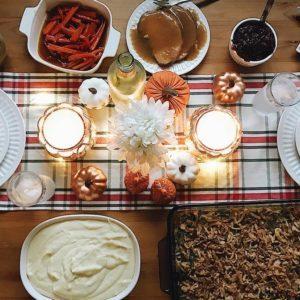 Friendsgiving table.