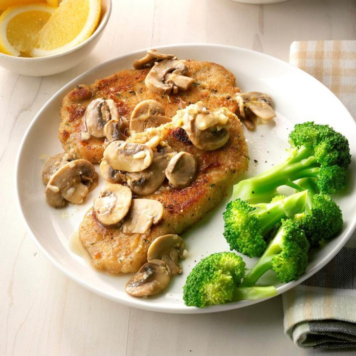 Lemon Pork with Mushrooms