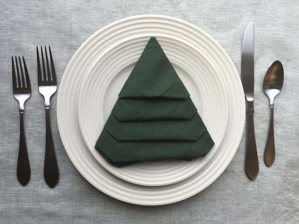 Fold Napkin Like Christmas Tree.This Christmas Tree Napkin Fold Will Make Your Table Extra