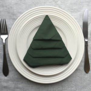 Trim Your Table with This Festive Christmas Tree Napkin Fold