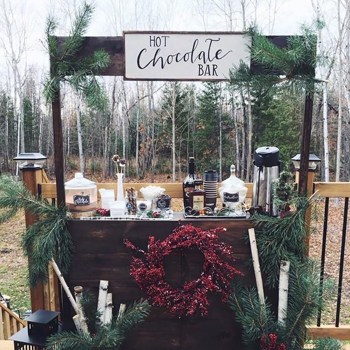 A hot chocolate stand.