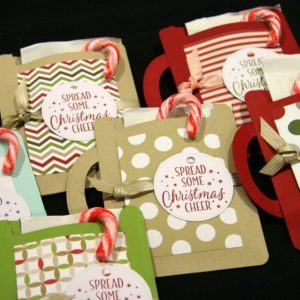 Cute holiday gift bags at the Twilight Christmas Market