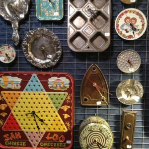 whimsical & practical upcycled clocks.