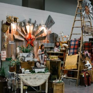 Stands set up at the Very Vintage Christmas Market