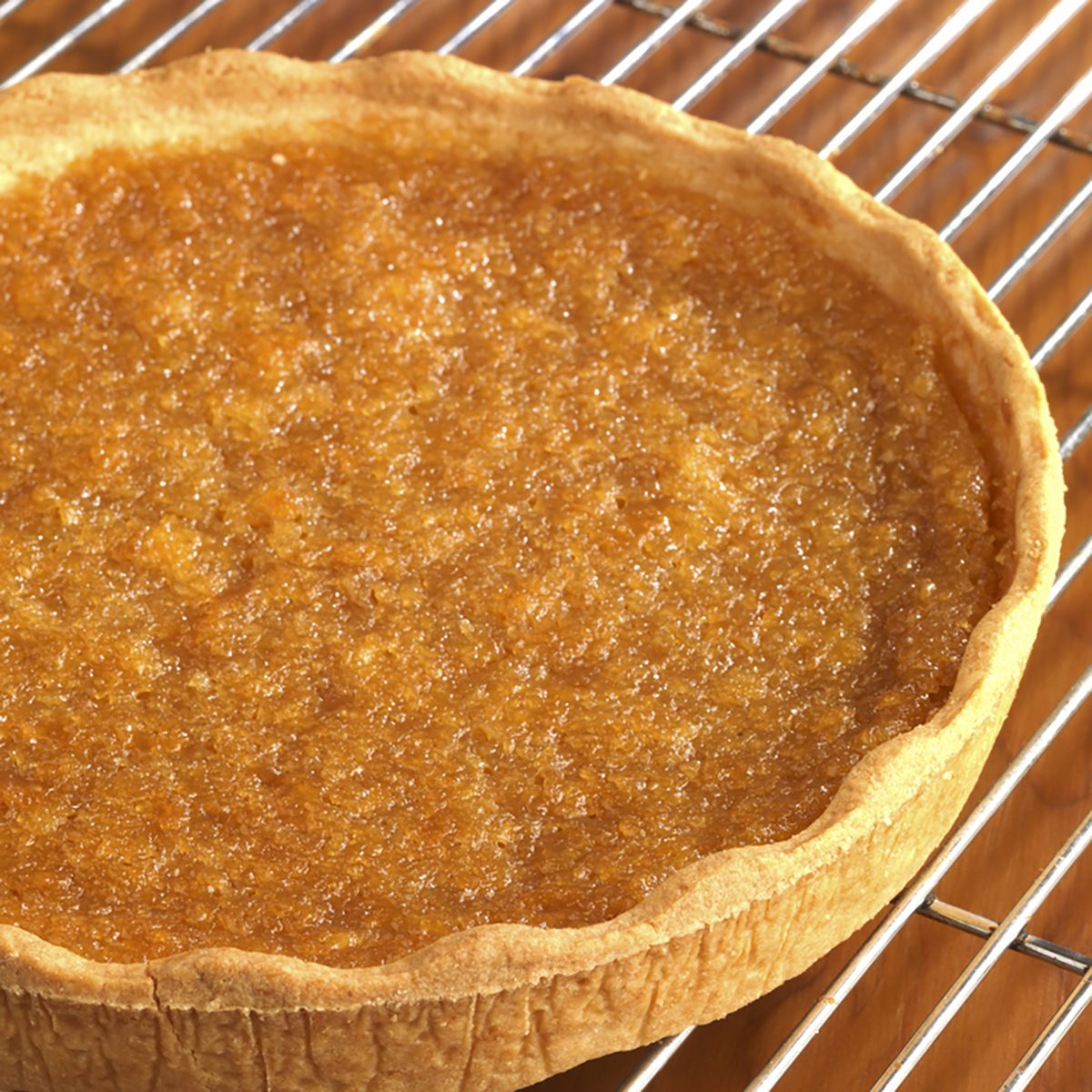 Treacle Tart on a cooling rack