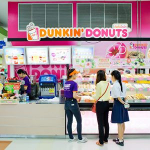 Exterior view of Dunkin Donuts Shop