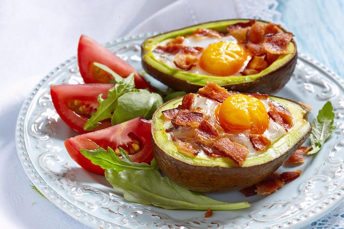 Avocado Egg Boats with bacon.