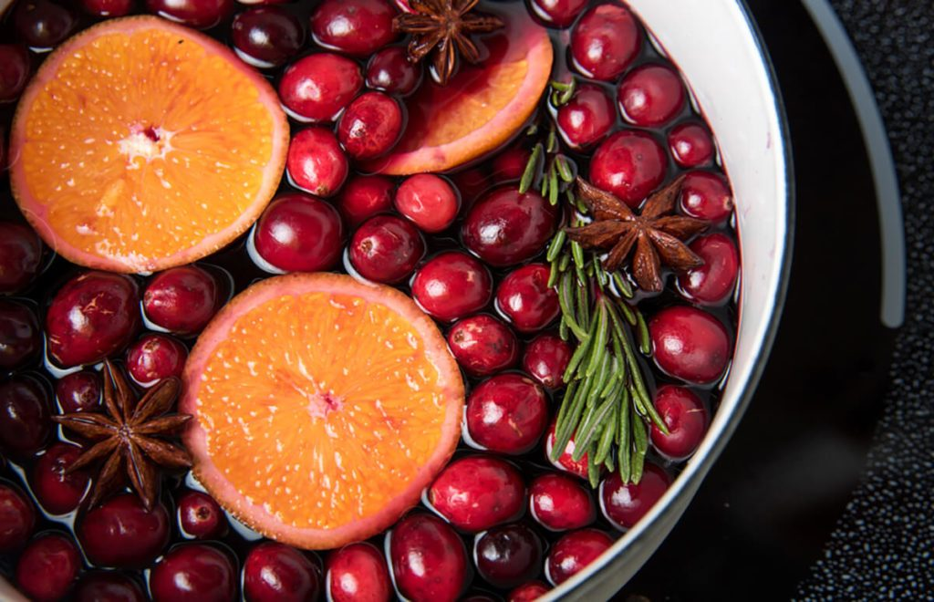Making Cranberry Sauce with Oranges, Star Anise, and Rosemary