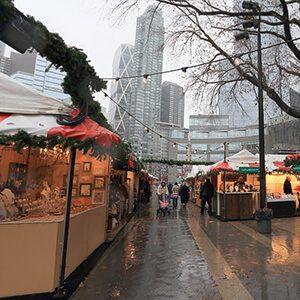 NEW YORK, NY, USA-DEC 10: Holiday Market at Columbus Circle
