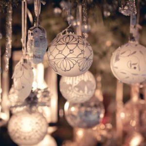 Christmas decoration on an european market.