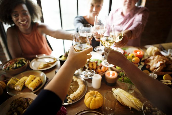 People Cheers Celebrating Thanksgiving