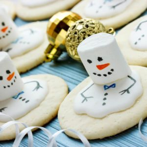 Melting Snowman Christmas Cookie