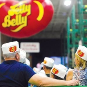 People wearing Jelly Belly hats on the Jelly Belly tour