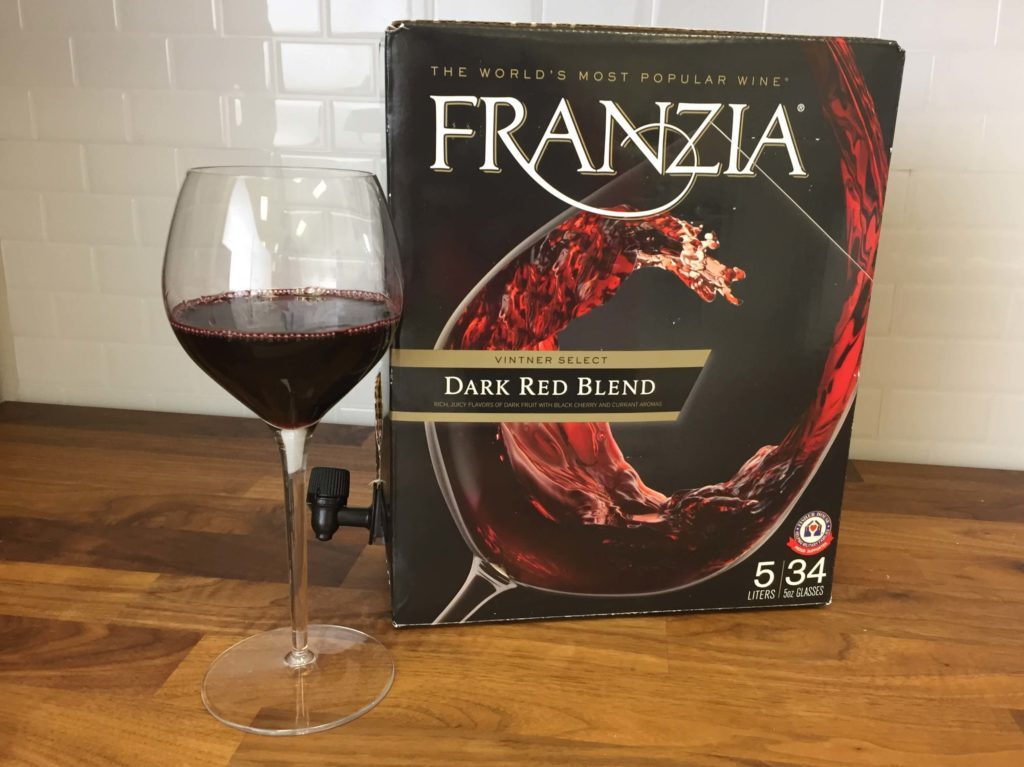 Franzia box of wine